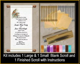Scroll invitations crystal scroll invitations for weddings and click on image to order sample solutioingenieria Gallery