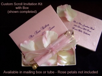 Buy online scroll kits do it yourself invitation scrolls buy here online see below to order your diy invitation scroll kits solutioingenieria Gallery